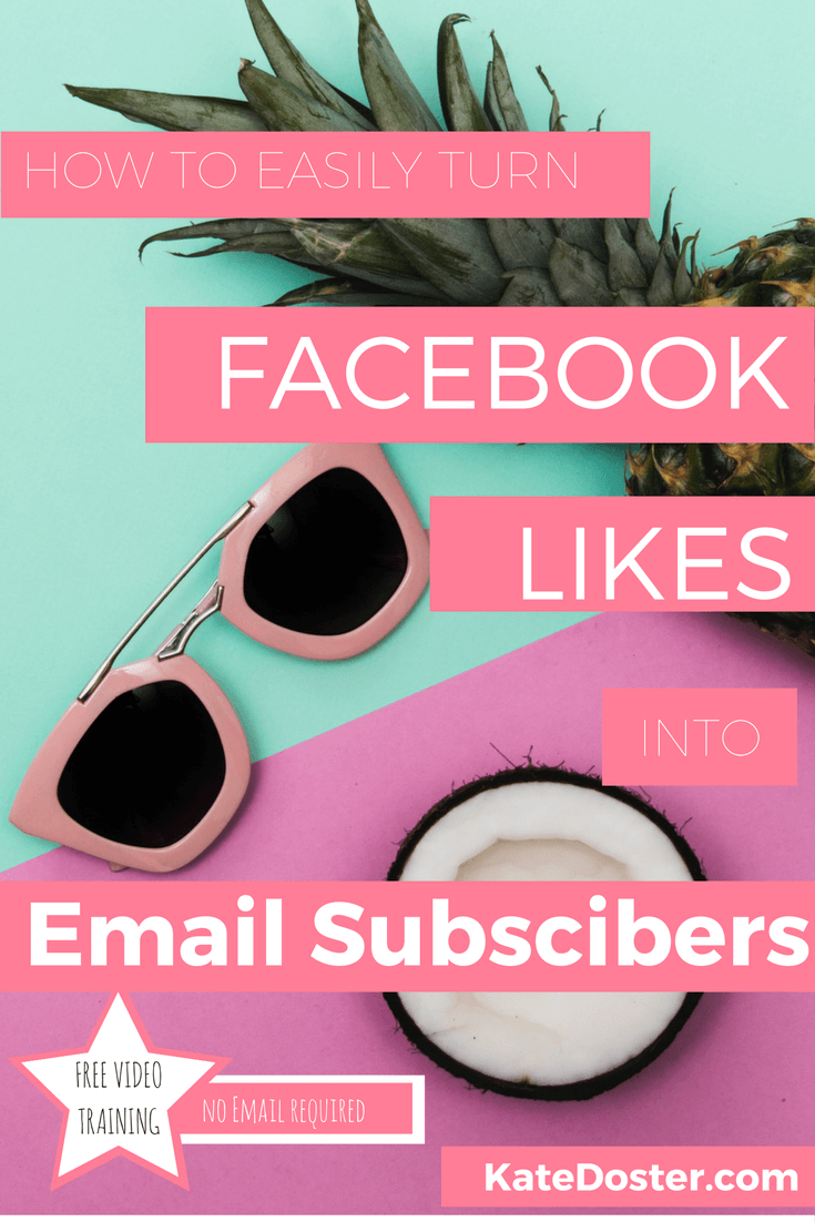 "6 different ways to turn Facebook Likes into Email Subscribers. Make your Facebook Page Worth Something Again. Capture ""likers"" email addresses so you can stay in touch and actually help them without boosting posts or paying for Facebook Ads"