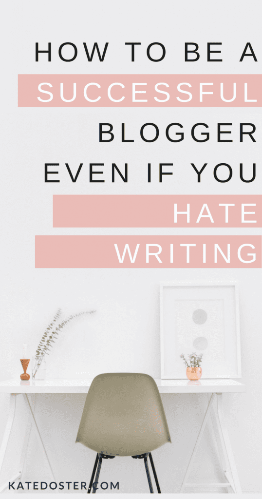 how to be a blogger when you hate writing. blog post idea, #beginnerbloggingtips #blogging #beginnerblogger