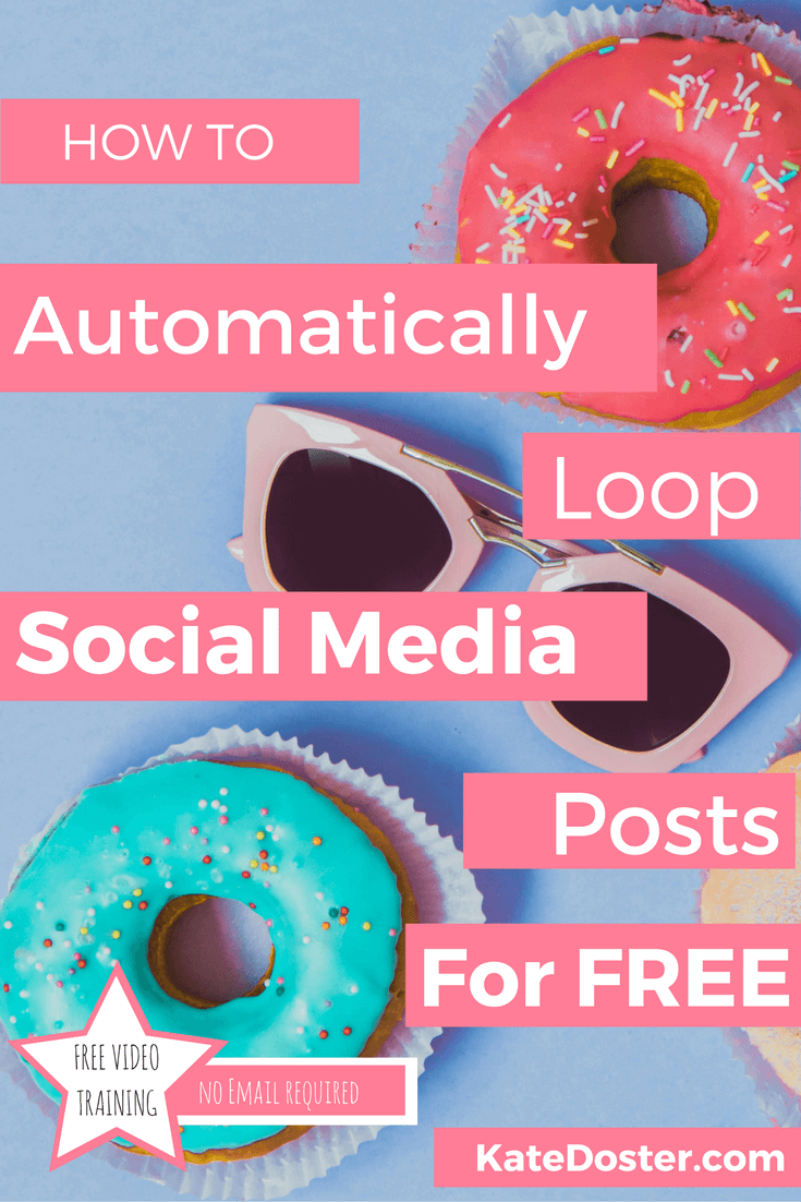 How to loop your social media posts for free using buffer one of the best apps for bloggers. Click to read or re-pin it to your group board for later