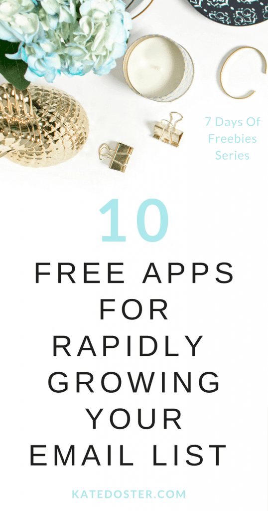 10 free tools for growing your email list when you're first starting your blog,