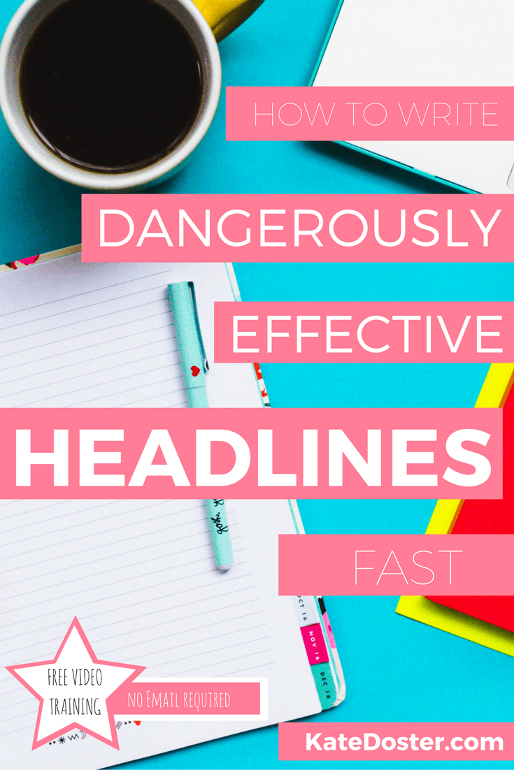 Headlines are super important over half of people share an article without reading it. It's all based on headlines. But writing catchy headlines like most copywriting, takes time. Not with this easy copywriting tip. Click now or repin for later