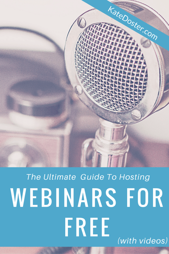 tips for setting up a webinar for free on your wordpress site, webinars are excellent for list building + selling e-courses