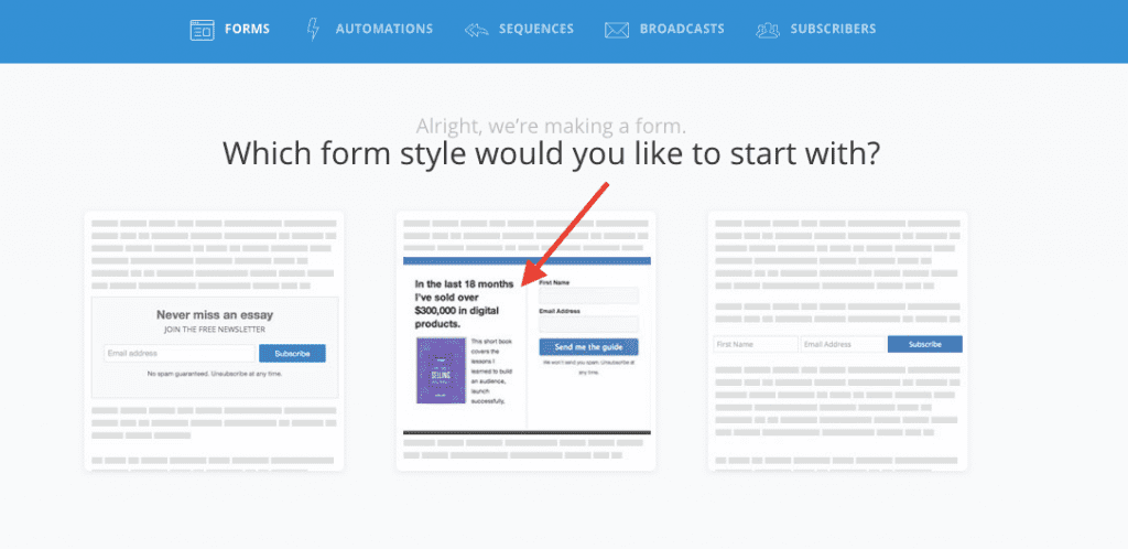 Content upgrade ideas for bloggers - 4 choose form style
