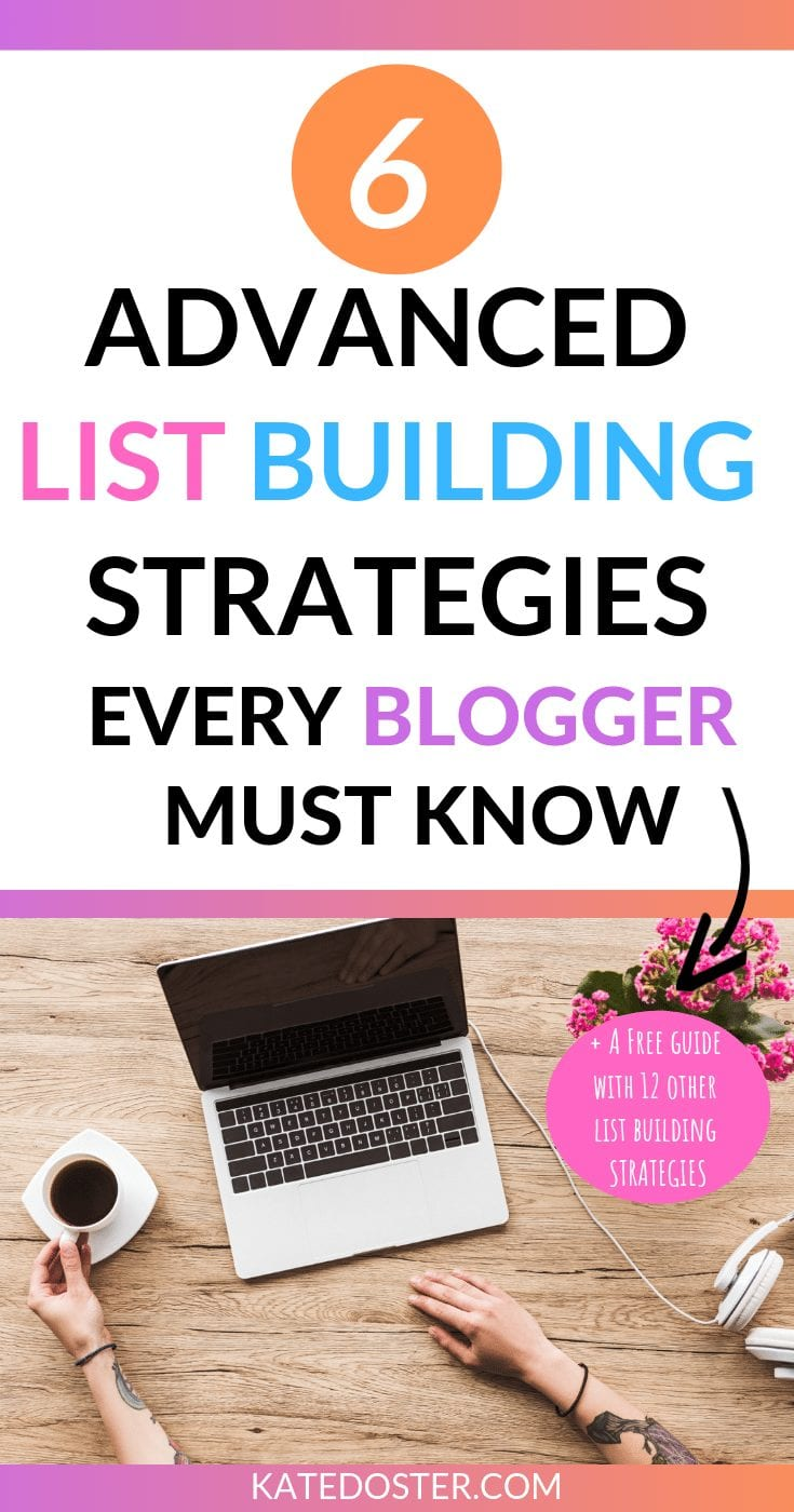 Need to grow your email list but can't get any new email subscribers? Use this Advanced List Building Strategies to grow your email list super fast. #listbuidling #emaillists