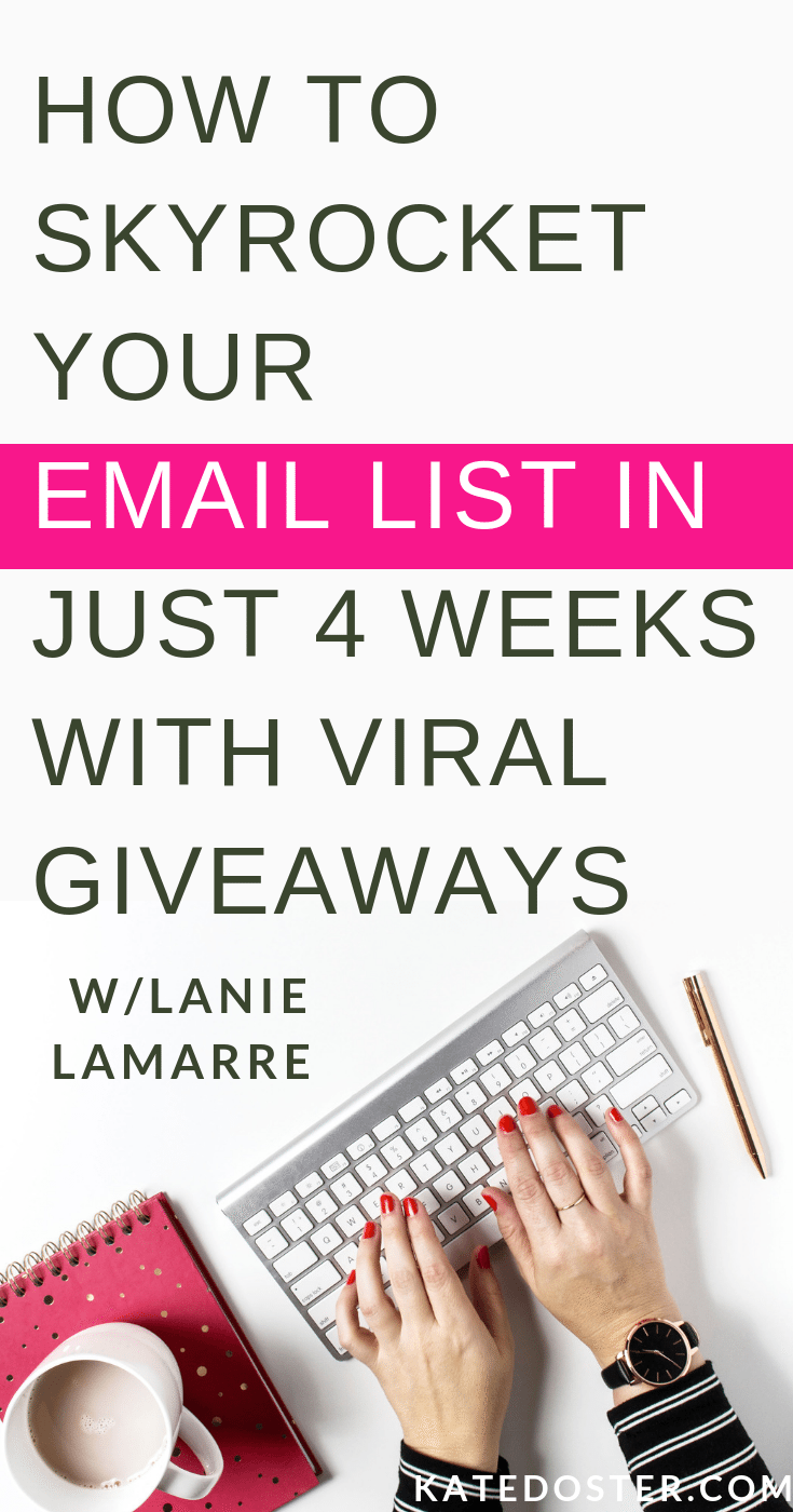 Growing your list can be tough when you're first starting out, which is teaming up with other bloggers to create viral giveaways is such a smart way to get the word out about your email list, get new subscribers and grow your blog