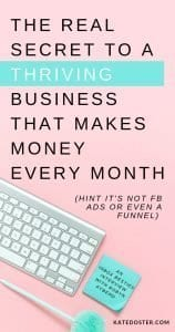 This is the key to having a business and blog that makes money every month, it's not facebook ads or funnel (those can help) but it's this one key part most bloggers and business owners are missing. Inbox Besties Kate Doster with Robyn Kyberd