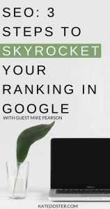 So if you want to use SEO to get ranked on Google so you can get seen and make more money, you're going to love this episode of Inbox Besties with SEO expert Mike Pearson #inboxbesties #seo #getranked
