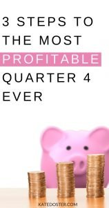 If you're ready to finish out the year with the most profitable Quarter 4 ever, tune in because I'm breaking down what it takes to smash your sales records in three easy steps #inboxbesties #profitablequarter4 #q4profits