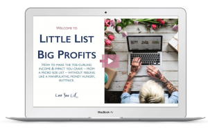 little list big profit email newsletter kate doster