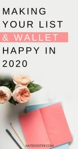 Planning Your Email Marketing for 2020? If you're ready to rock it in 2020 and have your best year ever, I'm giving you allllll my secrets when it comes to how I plan out my launches, my emails and my income for the upcoming year. #inboxbesties #emailmarketing #katedoster