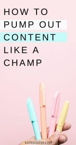 Ready to Create Content Like a Champ? If you struggle with what content to create and how to create a workflow that works for you, this one's for you! #createcontent #katedoster #inboxbesties
