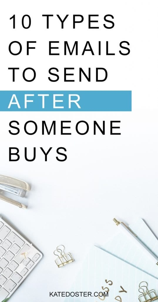 If you've ever been stuck with what to send after someone buys, use these 11 email ideas to help your people feel seen, loved and encouraged #whattosend #inboxbesties #katedoster