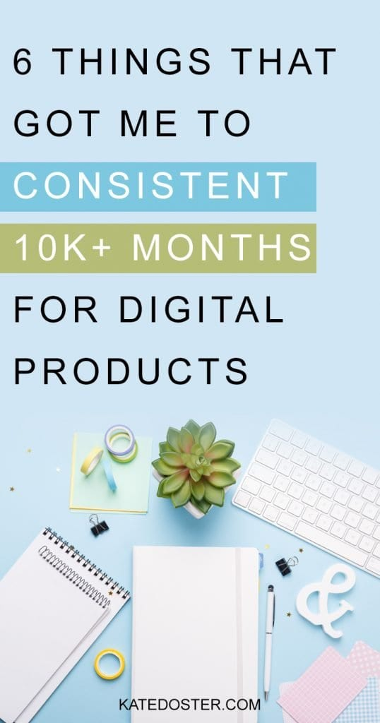 wanna know the 6 things that got me to consistent 10k months for digital products in my business? If your profits have stalled out and you're ready to reach the next level, I'm sharing my best tips with you right here! #inboxbesties #katedoster #mindset