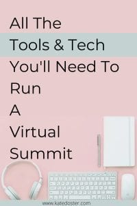 Are you thinking about having a virtual summit but feel overwhelmed? No need to worry these are the tech and tools we used to stay organized, host the summit, streamline all the processes, and more. #summit #tech #thebig3summit
