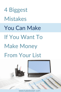 Let's talk about the 4 biggest mistakes you could be making and how to correct those 4 biggest mistakes and stop holding yourself back from making money from your email list #emailmarketing #inboxbesties #moresales