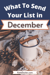 Are you wondering What To Send Your List in December? In this week's episode we're gonna talk about 5 emails that you can send to your list in December, and I go over what to send your list of subscribers each week in the month of December. #inboxbesties #emaillist #holidays